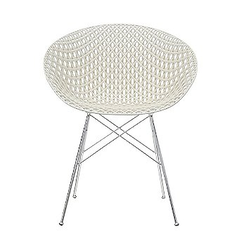 White Seat with Chrome Legs finish