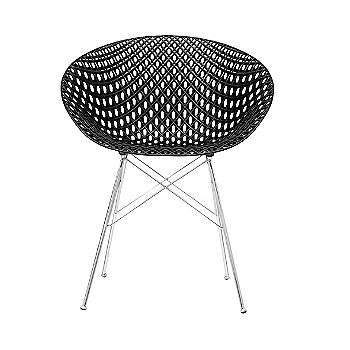 Black Seat with Chrome Legs finish