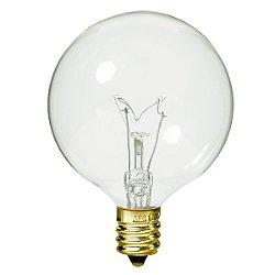 25W 120V G16 1/2 E12 Clear Bulb 6-Pack