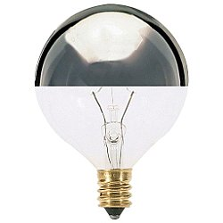 25W 120V G16 1/2 E12 Silver Crown Bulb 6-Pack