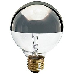 40W 120V G25 E26 Silver Crown Bulb 3-Pack