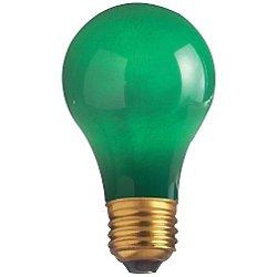 60W 120V A19 E26 Ceramic Green Bulb 4-Pack