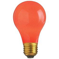 60W 120V A19 E26 Ceramic Red Bulb 4-Pack