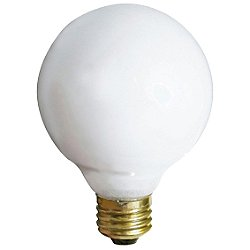 40W 120V G25 E26 Gloss White Bulb 3-Pack