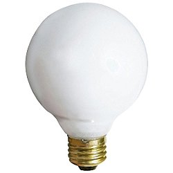 25W 120V G30 E26 Gloss White Bulb 3-Pack