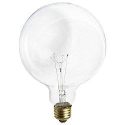 25W 120V G40 E26 Clear Bulb 2-Pack