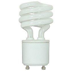 13W 120V T2 GU24 Mini Spiral CFL Bulb 2-Pack
