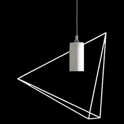 Rock Garden LED Pendant Light (White Pyramid Structure) - OPEN BOX RETURN