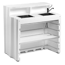 Frozen Desk With Double Sink