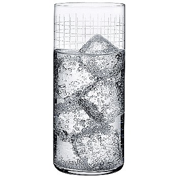 Finesse Grid High Ball Glass