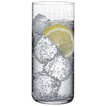 Finesse Grid Long Drink Glass