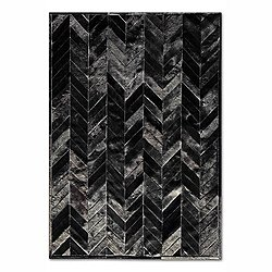 Solid Black Yves Cowhide Rug