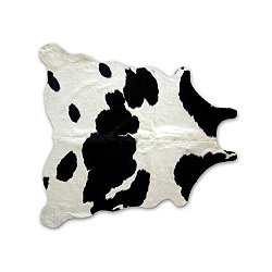 Black & White Natural Cowhide
