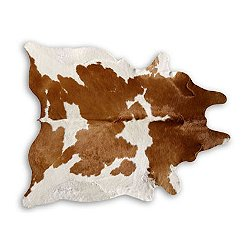 Brown & White Natural Cowhide