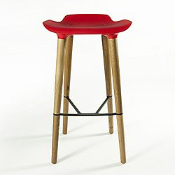 Pilot Bar Stool (Red) - OPEN BOX RETURN
