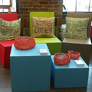 Poufs / in use as Tables