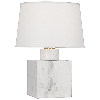 Carrara Marble with Oyster Linen shade