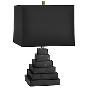Shown in Black Marble with Black Opaque Parchment shade