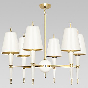 Shown in Lily with Lily Parchment shade with Modern Brass finish