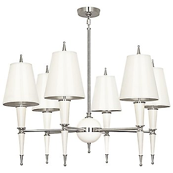 Shown in Lily with Lily Parchment shade with Polished Nickel finish