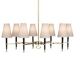 Ventana Oval Chandelier (Ebony Wood with Brass) - OPEN BOX
