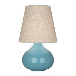 June Accent Lamp (Steel Blue/Buff Linen Shade) - OPEN BOX