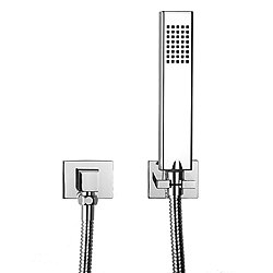 Square Handshower with Wall Bracket