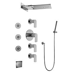 Aqua-Sense Full Round LED Thermostatic Shower System