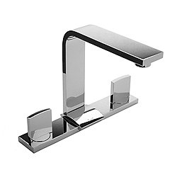 Targa Widespread Lavatory Faucet with Escutcheon Plate