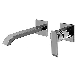 Qubic Wall-Mounted Lavatory Faucet with Single Handle - Large