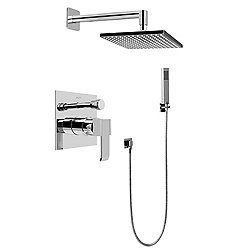 Full Pressure Balancing Shower System - Shower and Handheld