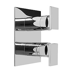 Thermostatic Valve Trim with Two Handles