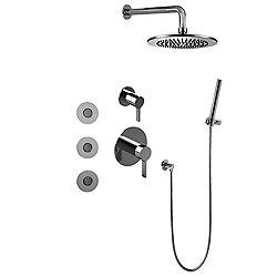 Terra Full Thermostatic Shower System With Diverter Valve