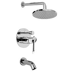 M.E. Contemporary Pressure Balancing Shower and Tub Combo Set