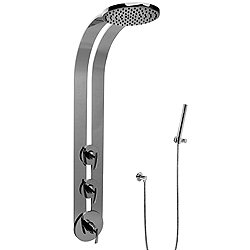 M.E. Round Thermostatic Ski Shower Set with Handspray