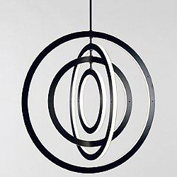 Halo Vertical 4-Ring Pendant Light