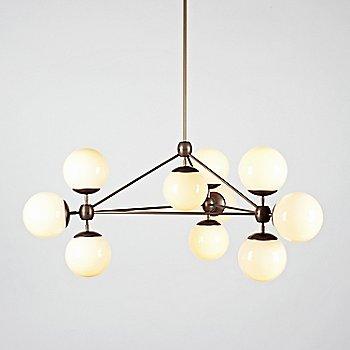 Bronze finish / Cream glass / illuminated