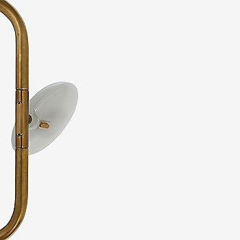 Shown unlit in Mottled Brass finish
