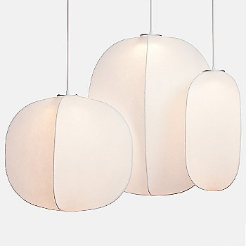 Shown lit with Mori Leaf and Squash pendants