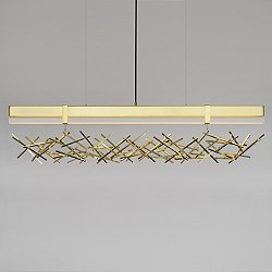 Level Criss Cross LED Linear Pendant Light