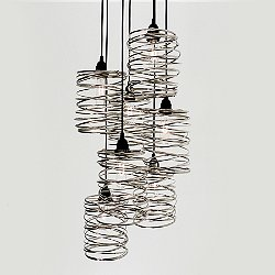 Spiral Nest Cascading 7 Light Chandelier