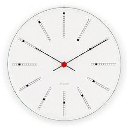 Arne Jacobsen Banker's Clock (8.3 Dia) - OPEN BOX RETURN