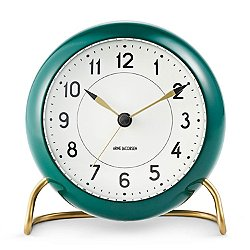 Arne Jacobsen Station Alarm Clock, Racing Green