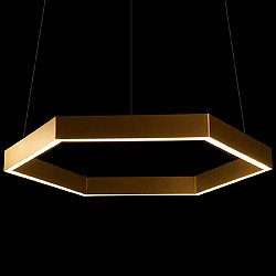 Hex 750 Brass LED Pendant