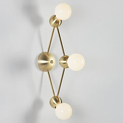 Lina 03-Light Diamond Wall Sconce