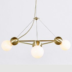Lina 03-Light Triangle Chandelier