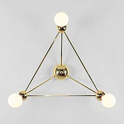 Lina 03-Light Triangle Wall Sconce
