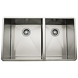 Rohl 1.5 Bowl Stainless Steel Kitchen Sink