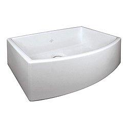 Shaws Waterside Single-Bowl Bowed Fireclay Apron Sink