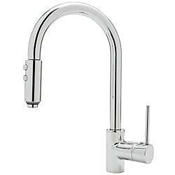 Modern Architectural Side Lever Pull-Down Kitchen Faucet
